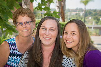 Trish Gallagher, Megan Ameng, and Jen Karel 2015 Professionals of the Year